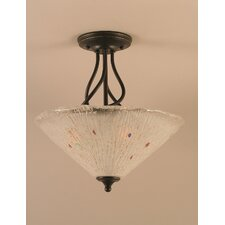<strong>Toltec Lighting</strong> Capri 3 Light Semi-Flush Mount