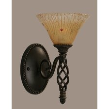 <strong>Toltec Lighting</strong> Elegante 1 Light Wall Sconce
