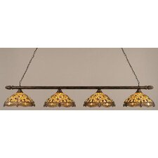 4 Light Round Kitchen Island Pendant
