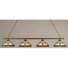 4 Light Square Kitchen Island Pendant