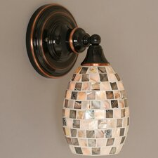 <strong>Toltec Lighting</strong> 1 Light Wall Sconce with Glass Shade
