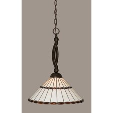 <strong>Toltec Lighting</strong> Bow 1 Light Pendant