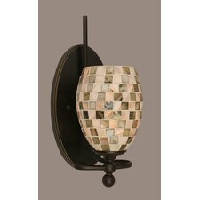<strong>Toltec Lighting</strong> Capri 1 Light Wall Sconce