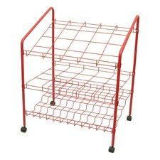 12 Opening Wire Bin Roll File Filing Cart