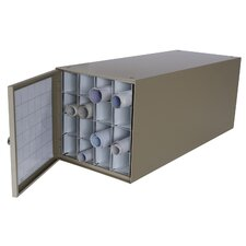 Stackable Steel Roll File with 16 Compartments for Blueprints