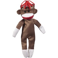 Crackle Heads Medium Canvas Monkey Dog Toy