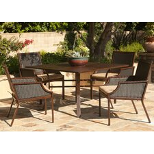 <strong>AIC Garden & Casual</strong> Hudson Dining Arm Chairs with Cushions (Set of 2) (Set of 2)
