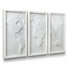3 Piece Mapster Wall Décor