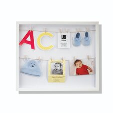 Clothesline Shadowbox Wall Frame
