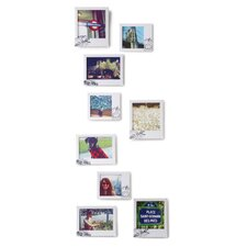 Postal Wall-Mount Picture Frames (Set of 9)