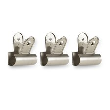 Clipper Wall Mounted Hook (Set of 3)