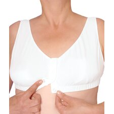Women's Easy Snap Front Closure Bra in White