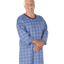 Men's Flannel Hospital Gown