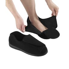 Mens Swollen Feet Slipper in Black