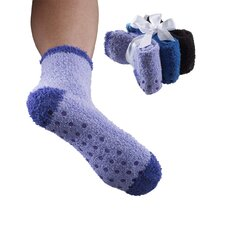 Womens Non Skid/Slip Sock (Set of 3)