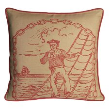 Salty Dog Decorative Pillow