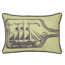 <strong>Kevin O'Brien Studio</strong> Ship In A Bottle Decorative Pillow