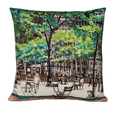 New York Library Double Sided Decorative Pillow