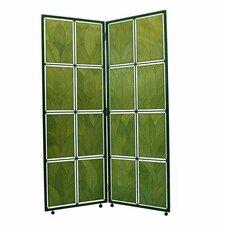 "67"" Cocoa Leaf Screen 2 Panel Room Divider"