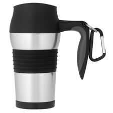 King 14 oz Leak Proof Travel Mug with Handle in Black