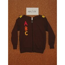 ABC/123 Hoodie in Brown