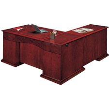 Del Mar Executive L-Shape Desk with Right Return