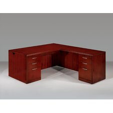 Summit Reed L-Shape Executive Desk with Right Return (Flat Pack)