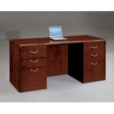 Summit Cope Executive Bow Front Credenza (Flat Pack)