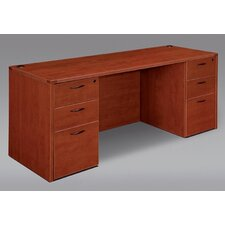 Fairplex Wood Kneehole Executive Desk