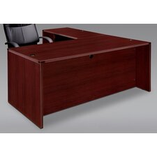 Fairplex Right / Left Bow Front L Executive Desk