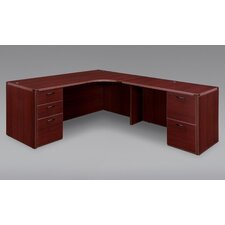 Fairplex Corner Desk with Grommet Holes and Wire Management