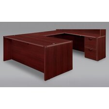 Fairplex Right / Left Executive U Desk with Grommet Holes and Wire Management