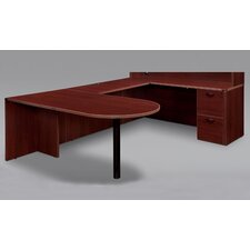 Fairplex Right / Left Executive Bullet U Desk with Grommet Holes and Wire Management