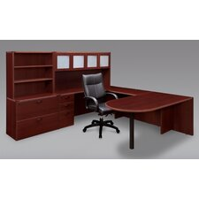 Fairplex Peninsula U-Shape Desk Office Suite