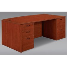 Fairplex Right/Left Executive Bow Front Desk with Grommet Holes