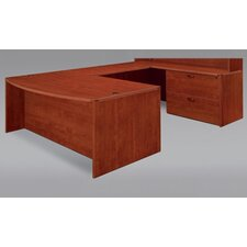Fairplex Right/Left Executive Bow Front U-Shape Desk Office Suite