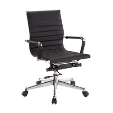 Pantera Metal and Synthetic Low-Back Leather Office Chair