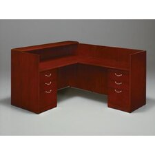 "<strong>DMI Office Furniture</strong> Summit-Cope Flat Packed Right Reception ""L"" Desk with 6 Drawers"