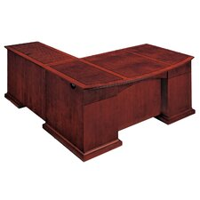 <strong>DMI Office Furniture</strong> Del Mar Executive L-Shape Bow Front Desk with Right Return