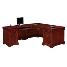 "<strong>DMI Office Furniture</strong> Rue De Lyon 72""Computer ""L"" Executive Desk with Drawers"