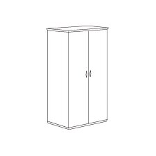 <strong>DMI Office Furniture</strong> Pimlico Laminate Double Wardrobe/Cabinet