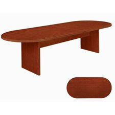 "Fairplex 10"" Racetrack Conference Table in Cognac Cherry"