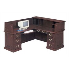 Governor's L-Shape Reception Desk with Left Return