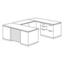 Pimlico Personal File U-Shape Executive Desk