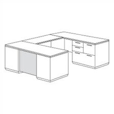 Pimlico Right Personal File U-Shape Executive Desk (Flat Pack)