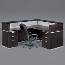 <strong>DMI Office Furniture</strong> Pimlico Left Reception Desk (Flat Pack)