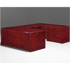 Summit Reed U-Shape Executive Desk with Lateral File