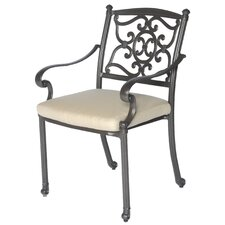 <strong>Meadow Decor</strong> Kingston Dining Arm Chair with Cushion