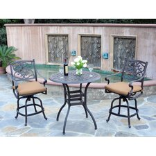 Kingston 3 Piece Counter Height Dining Set