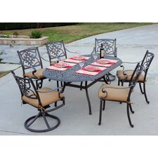 <strong>Meadow Decor</strong> Kingston 7 Piece Dining Set